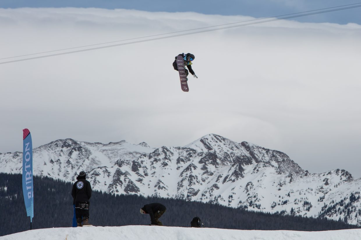 Hiroaki Kunitake of Japan goes big at the Burton US Open men's Slopestyle Semi-Finals on Wednesday, Feb. 27, in Vail. Kunitake qualified for Friday's finals in third position.