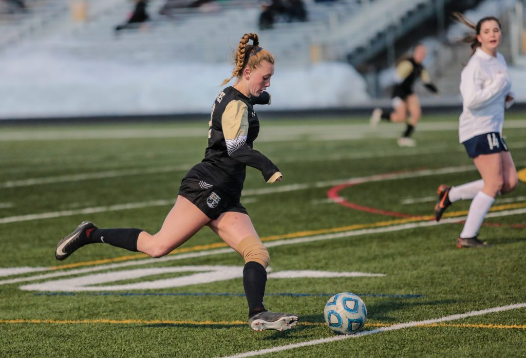 Battle Mountain's Audrey Teague finishes the season with 23 goals in all. Not surprisingly, she was all-league this spring.