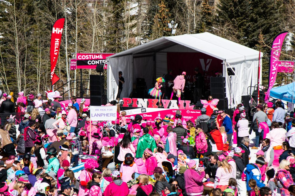 Pink Vail draws thousands every year to raise awareness for cancer, which has its base at Golden Peak.