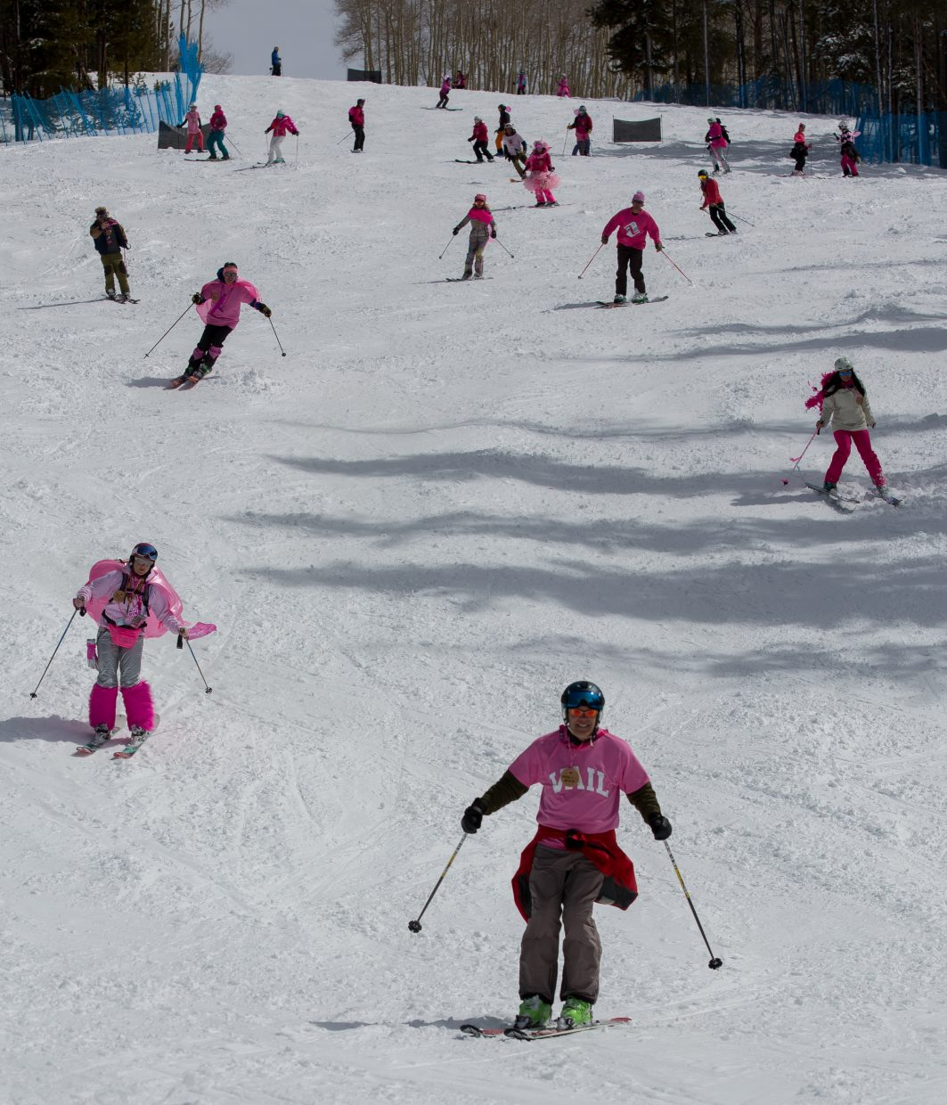 Pink Vail started with the color associated with breast cancer awareness, but funds raised benefit all patients at Shaw Cancer Center.