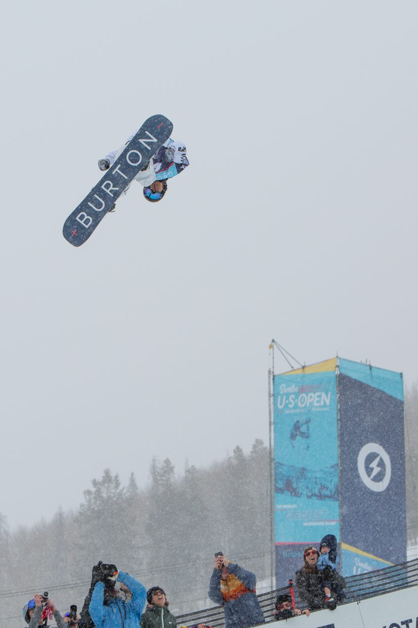 Raibu Katayama goes absolutely insane for the Men's Halfpipe Final for the Burotn US Open Snowboarding Championships Saturday, March 2, in Vail, Colo. Katayama took second.