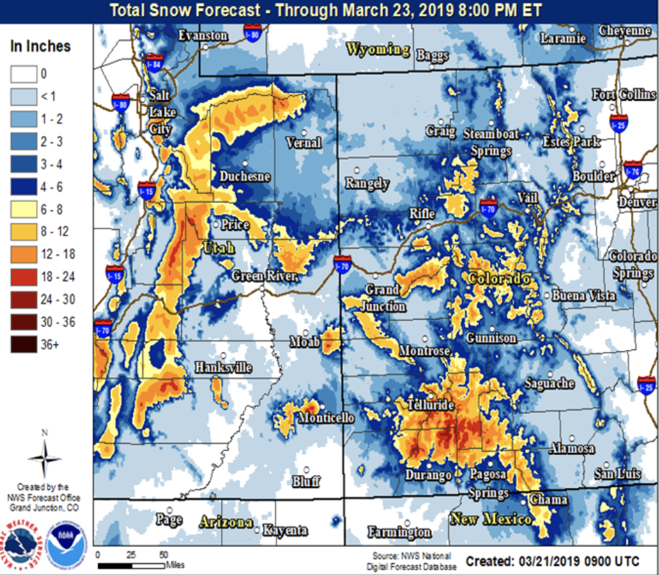 Snow in forecast for Vail this weekend