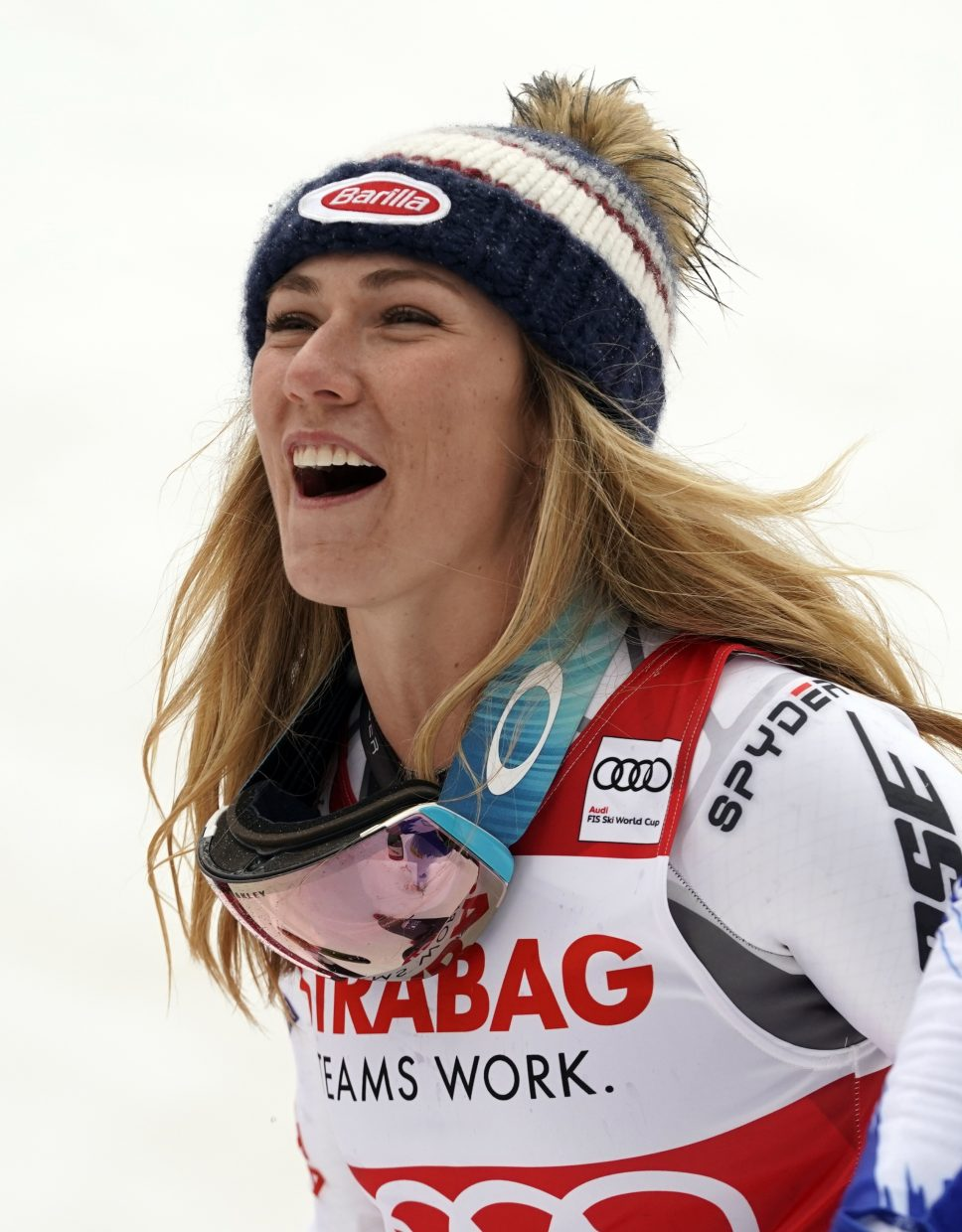 By finishing third in Friday's World Cup giant slalom in Spindleruv Mlyn, Czech Republic, Mikaela Shiffrin has all but assured herself of the World Cup GS title. She leads by 97 points with one race remaining in the season.