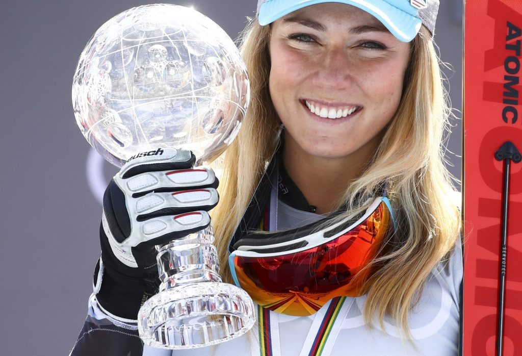While she had clinched the title in February, Mikaela Shiffrin officially took possession of her sixth slalom globe in seven years on Saturday in Soldeu, Andorra, after winning yet another slalom.