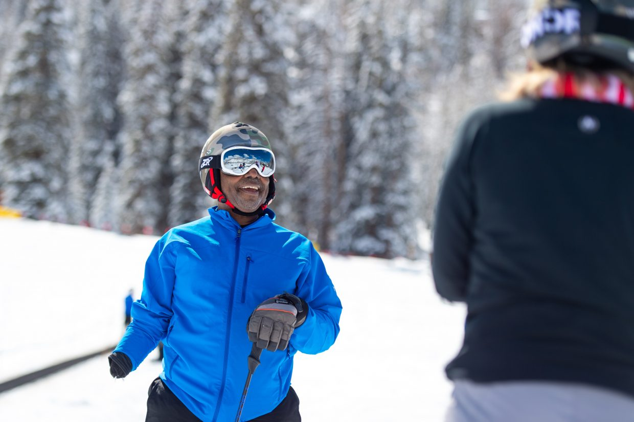 Smiles are everywhere the Vail Veterans Program is.