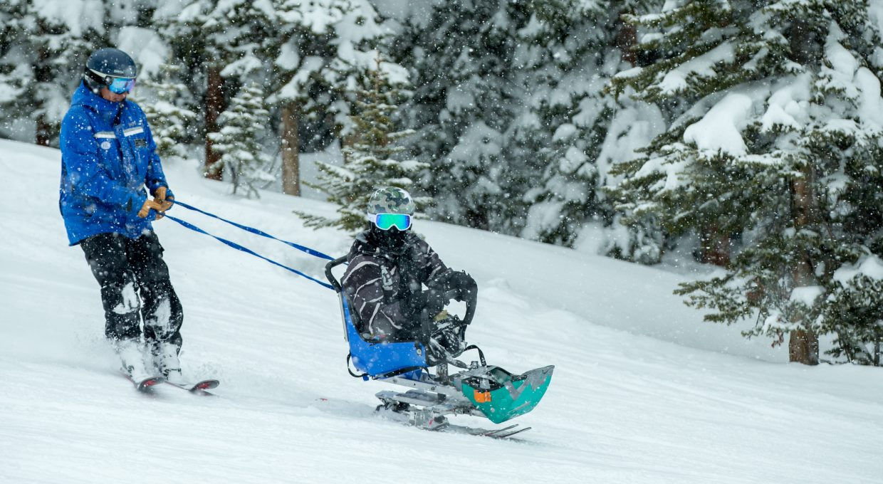 Daniel Milchev is all smiles as he learns to ski this week with the Vail Veterans Program winter family session.