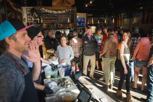 Shuck Brothers' mobile oyster bar supplying fresh oysters to Rocky Mountain, Front Range events