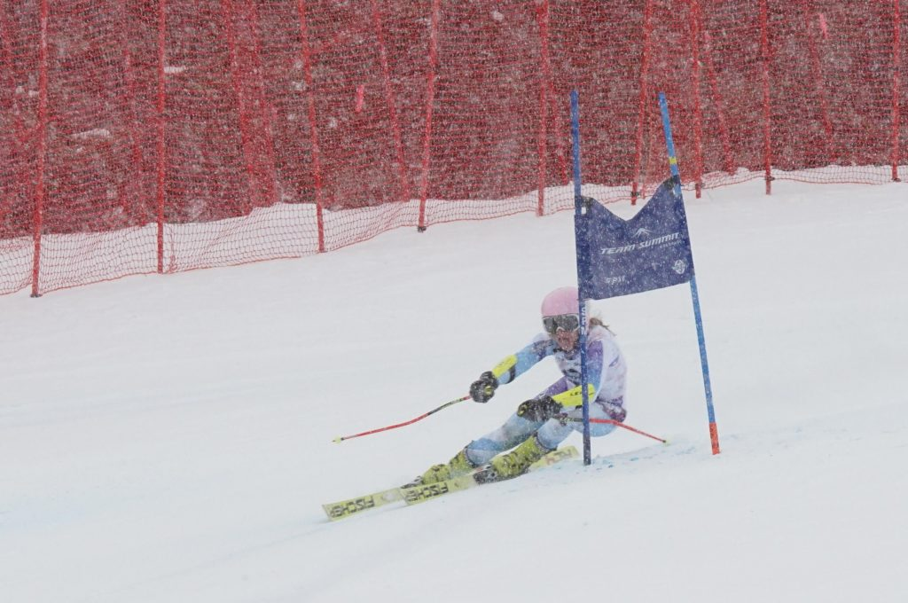 89834c6b8 Ski & Snowboard Club Vail athlete Emma Resnick, 15, clears a gate in the  super-G at the Alpine U16 National Championships in Breckenridge on April 2.