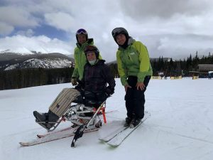 After ATV accident left Olympic gold medalist Amy Van Dyken paralyzed, BOEC helps her learn to love skiing again