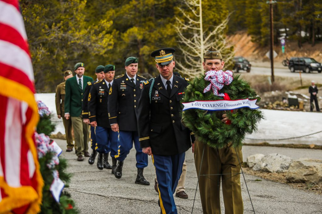 Laying of the wreaths.