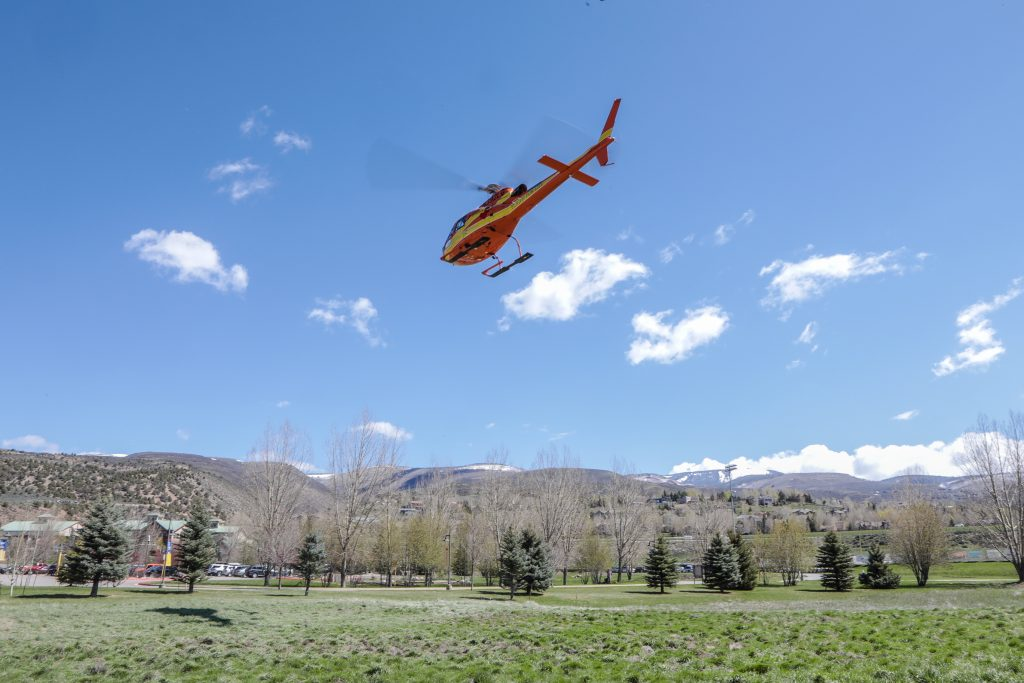 CareFLIGHT of the Rockies, based in Rifle, Colo., and Flight for Life, based in Summit County, did a joint training for Eagle County Paramedic Services and Vail Mountain Rescue Saturday at Colorado Mountain College in Edwards. The training provided the search and rescue Crew Card/Lift Ticket recurrence training. Flight For Life is the oldest and CareFLIGHT of the Rockies is the second oldest hospital-based emergency helicopter operation in the country.