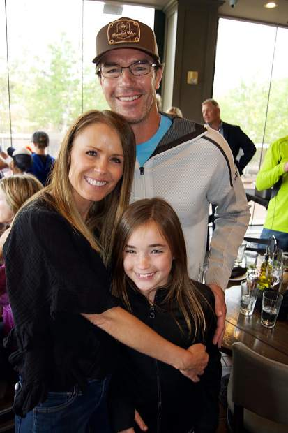 Trista, Ryan and Blakesley Sutter supported the Vail Valley Lacrosse Club at the annual benefit at Sauce on the Creek Italian Eatery in Avon.
