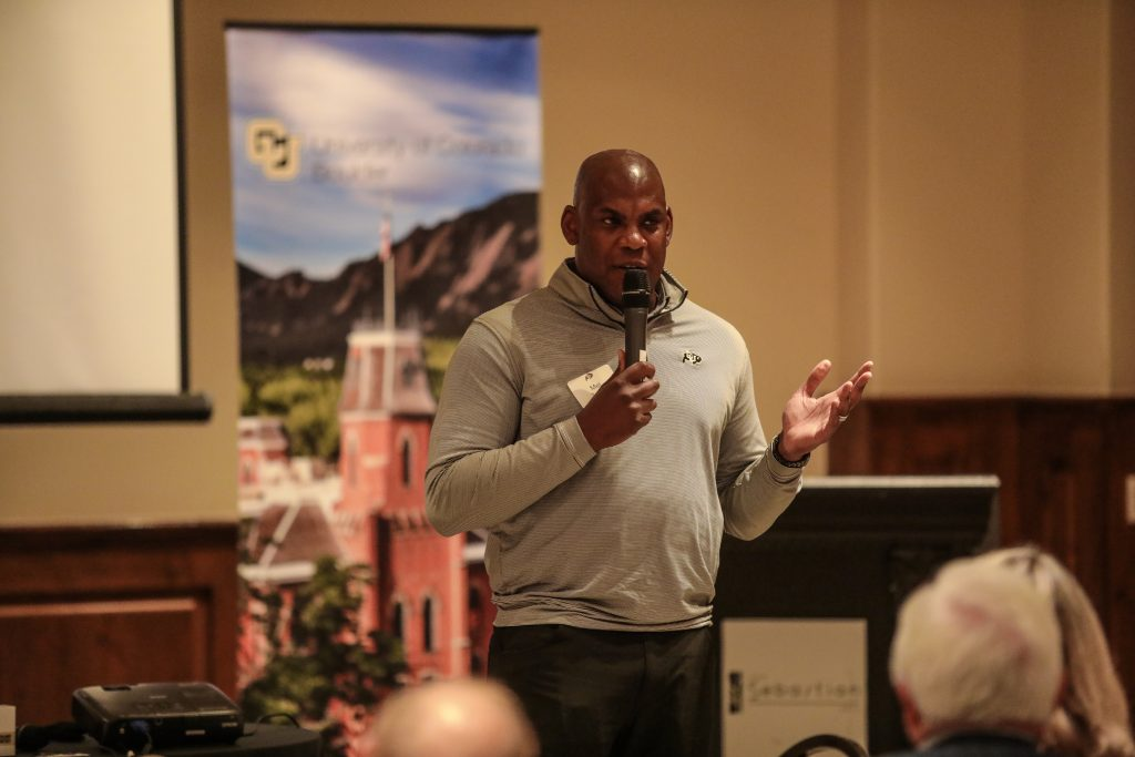 4b521b9b9 New CU football coach Mel Tucker stops in Vail to drum up support for Buffs