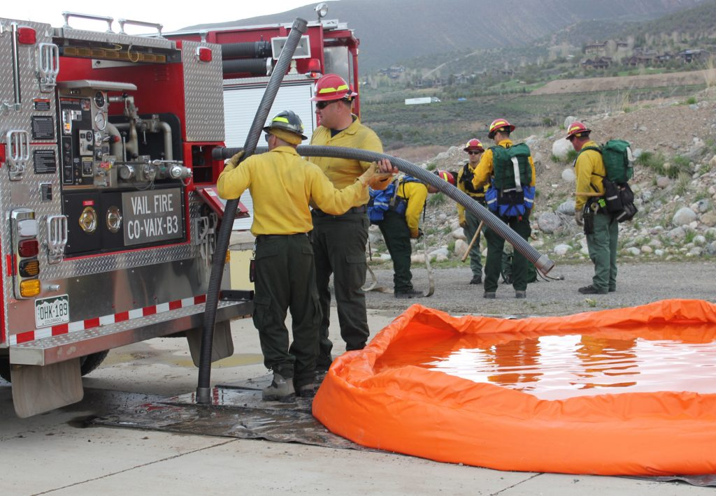 FIrefighters from agencies up and down the Vail Valley trained together as they prepare for the upcoming wildfire season.