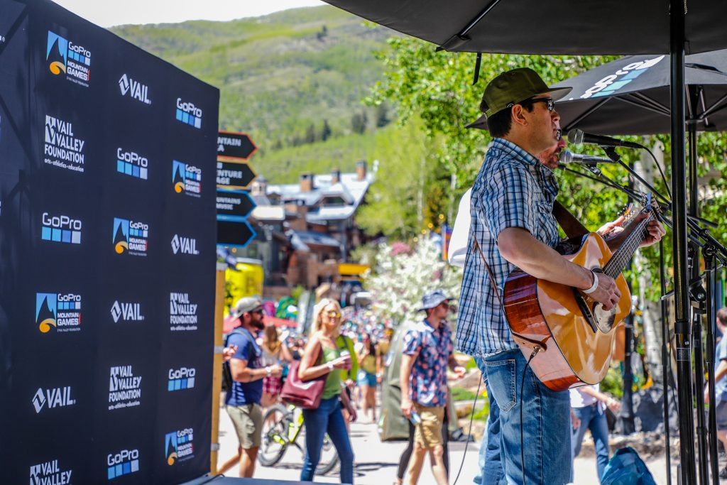 Live music at Checkpoint Charlies for GoPro Mountain Games Saturday in Vail.