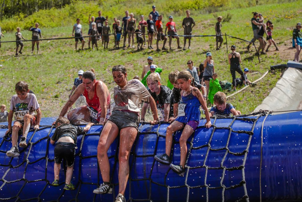 Mud Run during the GoPro Mountain Games Saturday in Vail.