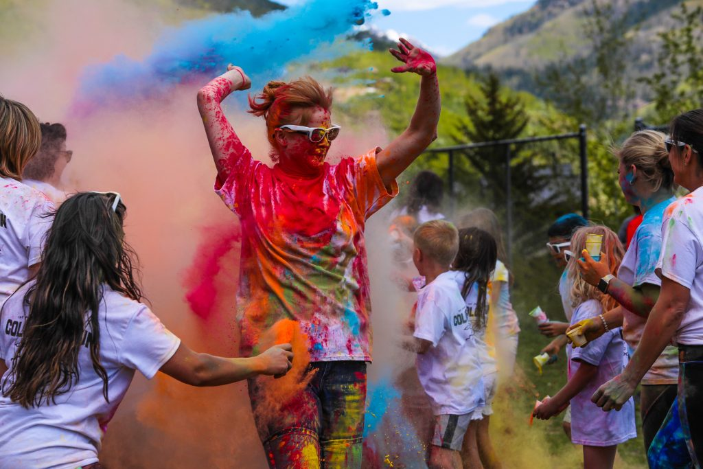 Red Sandstone Elementary School for its last day of school held the first annual Color Run Wednesday in Vail.