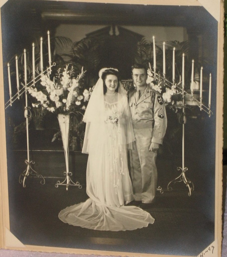 After surviving D-Day and four other campaigns in World War II, including the Battle of the Bulge, Sgt. Edwin F. Englehart married Hazel Venatta Englehart on July 29th, 1945, in First Baptist Church, Harrisburg, PA.