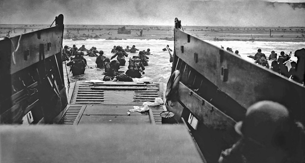 This was the view Eddie Englehart and thousands of other Allied soldiers had when they landed on the beaches of Normandy, D-Day 75 years ago. Of the 183 American soldiers Englehart landed with, 181 died,