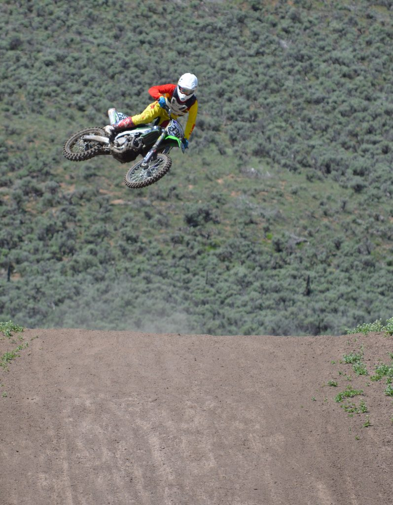 Bikes in the air are not rare at the Dry Lake Motocross Park.