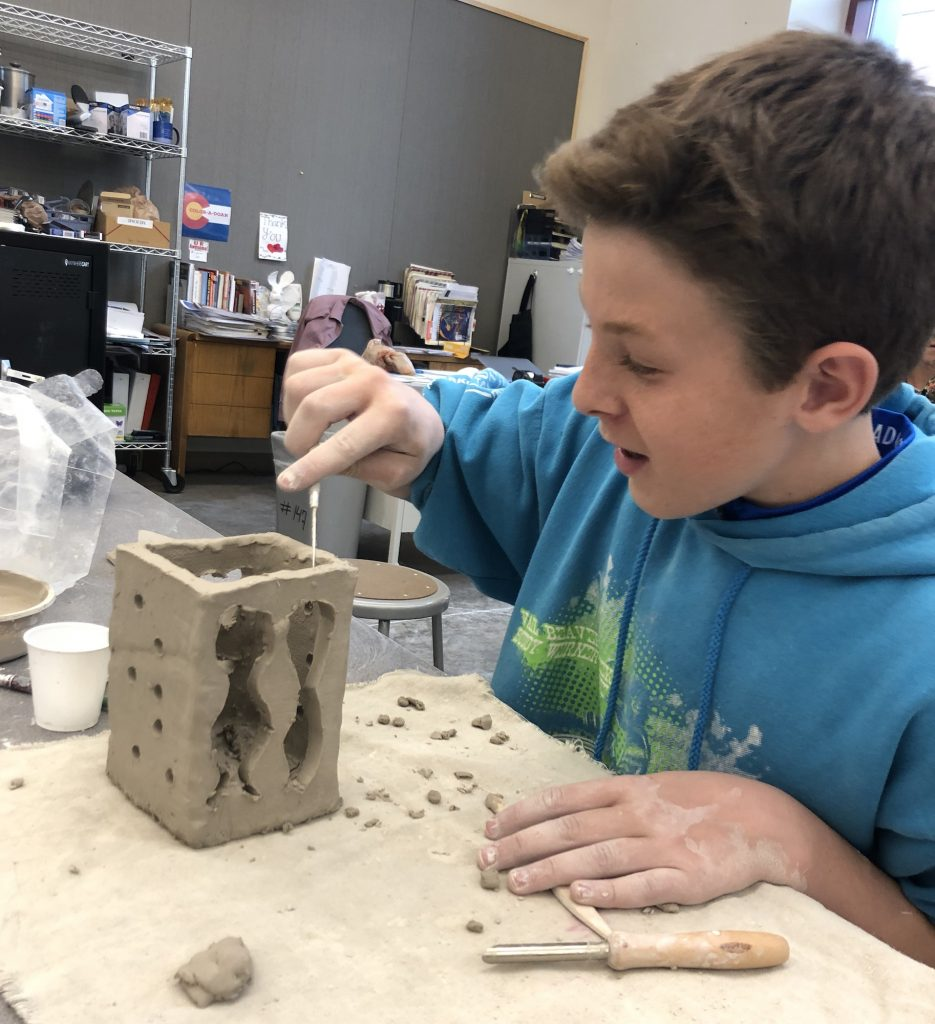 Ceramics was among Gypsum Creek Middle School's many M-Term classes.