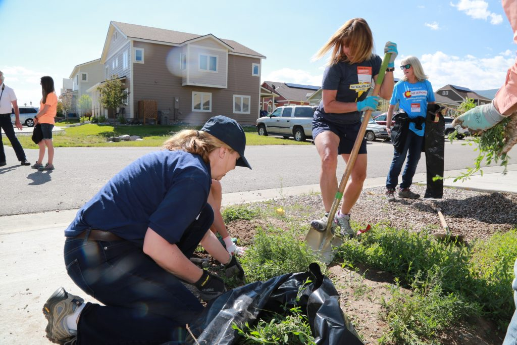 Dozens of volunteers pitched in Thursday for Habitat for Humanity Vail Valley. They're wrapping up four more houses at Stratton Flats, bringing their total to 79 homes.