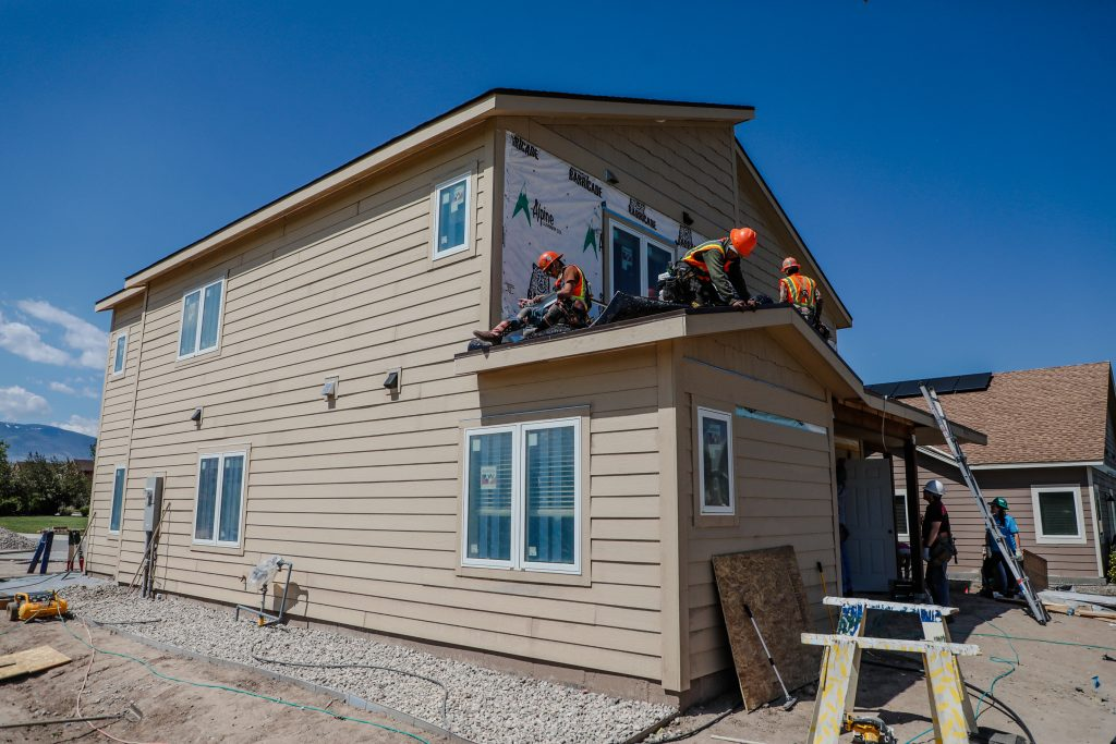 The house at Stratton Flats gets final touches Thursday in Gypsum.