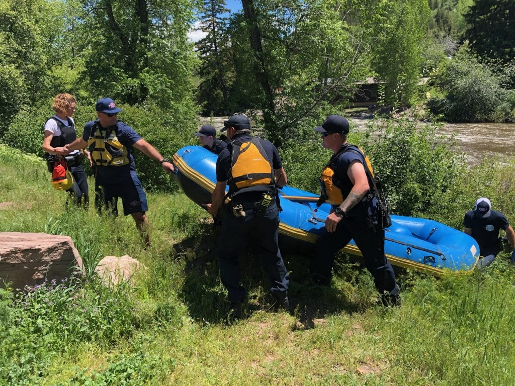 Crews responded to a flipped raft on the Eagle River on Thursday afternoon.