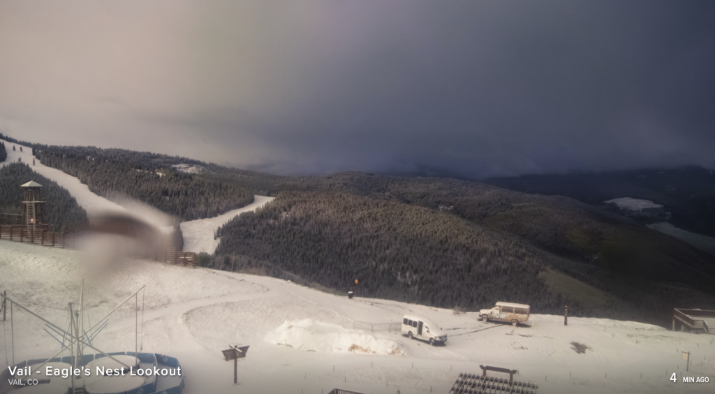 A Vail Mountain webcam shows Eagles Nest on Saturday morning.