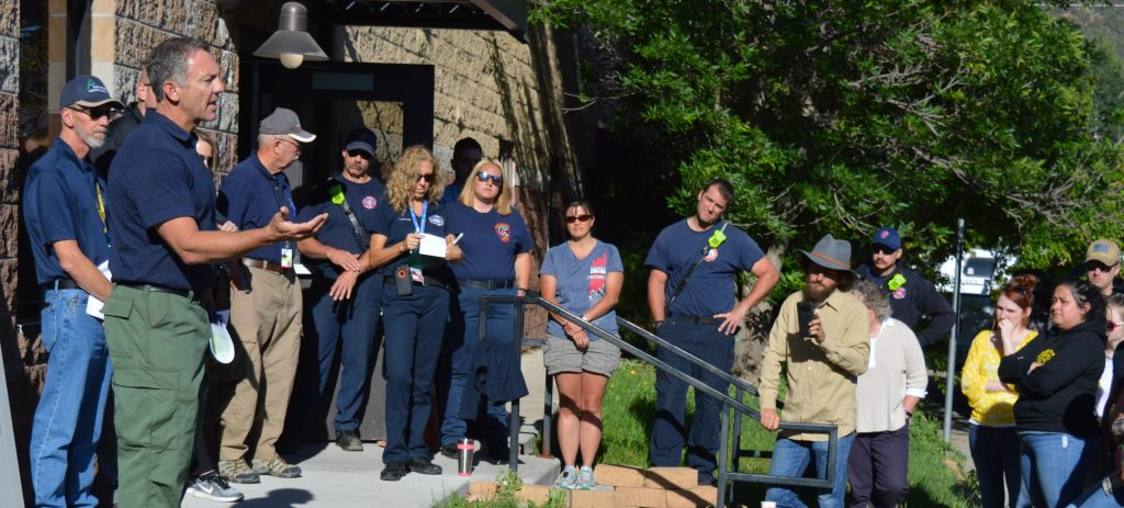 Dozens of volunteer searchers gathered Friday to help search for Tayler Esslinger. The Eagle County native has been missing since 4 a.m. Tuesday. Eagle Fire Chief Doug Cupp is helping lead search efforts.