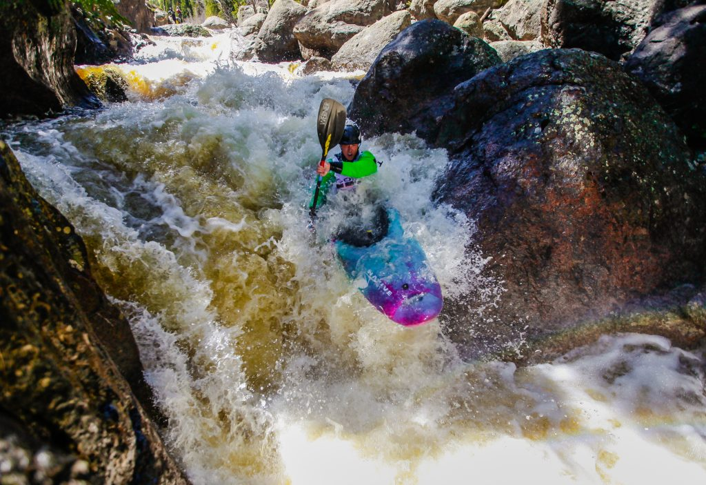 Kayakers compete in the Steep Creek Race for the GoPro Mountain Games Thursdya in Vail. The race kicks off the GoPro Mountain Game weekend.