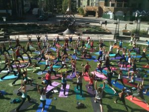 Free Community Yoga led by the Vail Athletic Club returns to the Solaris Plaza this Summer