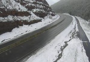 Summer snow coats higher elevations around Vail