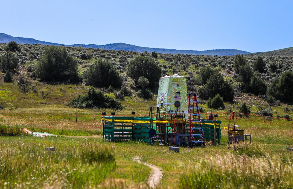 Bill Mounsey built his capsule in his rural Eagle County backyard.