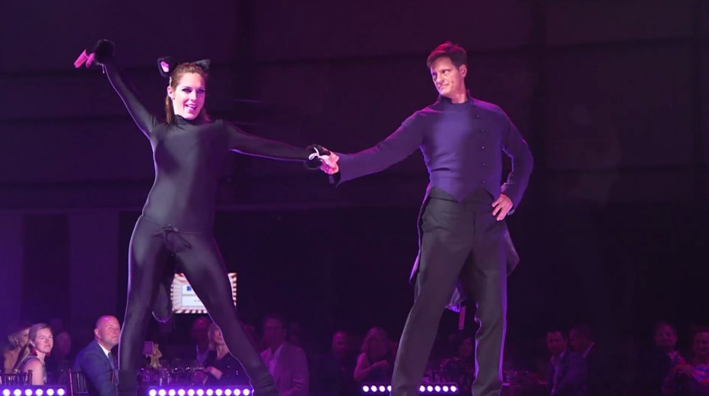 "Celebrity dancer Dr. Charlie Meynier and pro dance partner Amy Wentworth did a little foxtrot to the song ""Everybody Wants to Be a Cat"" at this year's Star Dancing Gala, a benefit for YouthPower365."