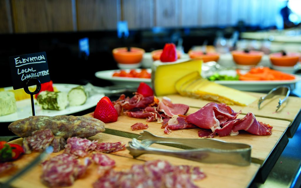 EAT FP Sonnenalp 3 DT 6-7-19 Dominique Taylor/Dominique Taylor Photography The local charcuterie selection is a highlight of the Ludwigs buffet.