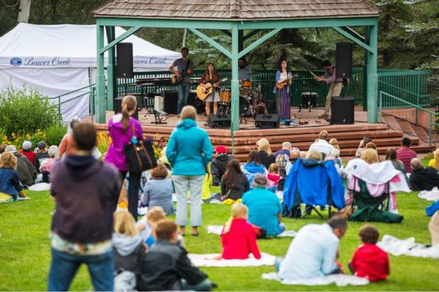 Concerts by the Creek is a Wednesday evening free live music series. Music starts at 5:30 p.m. and snacks and drinks are available for purchase.