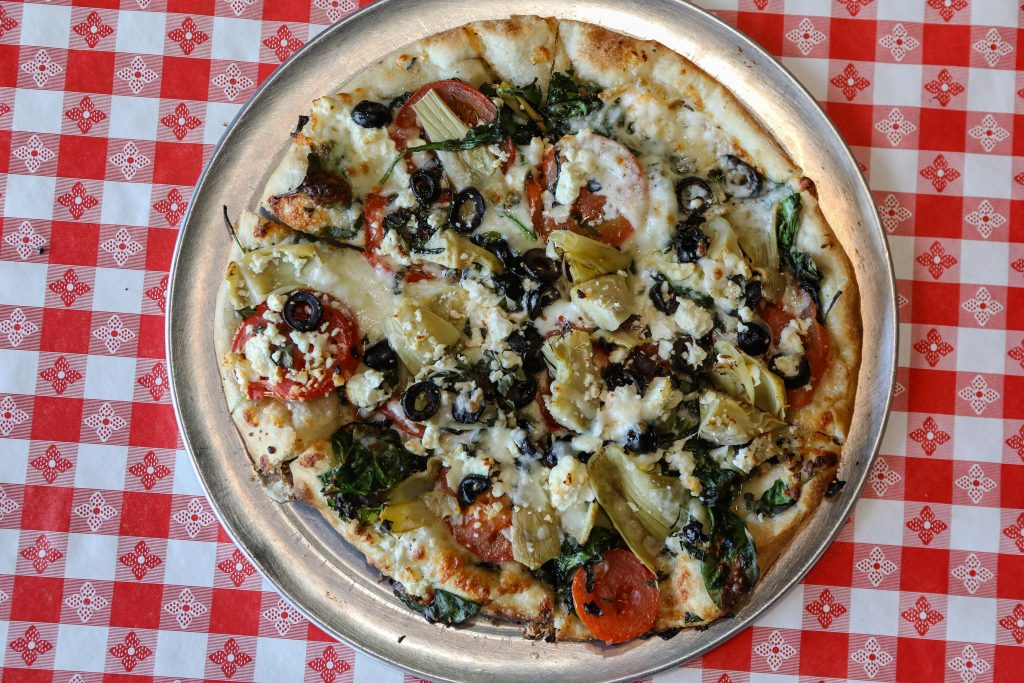 The Greek Pizza at Markos in Edwards.