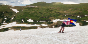 A secret freeski race on a remote Colorado snowfield in July? Tell us more — if you can.