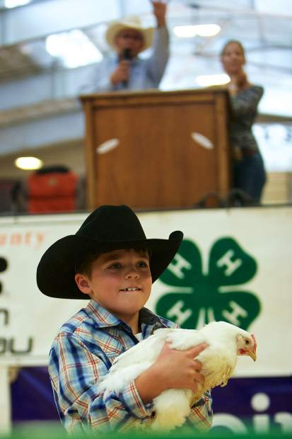 The Eagle County Junior Livestock Auction is scheduled for 1 p.m. on Saturday. The Eagle County Fair and Rodeo celebrates its 80th anniversary this week.