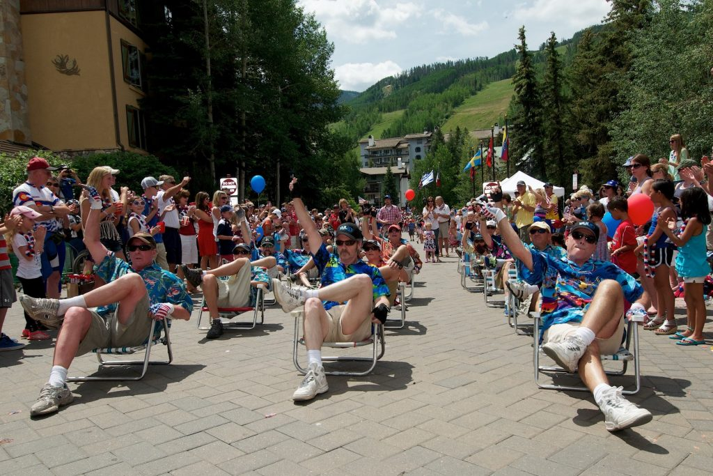 Vail's Precision Lawn Chair Demonstration Team has been marching and amusing for 35 years.