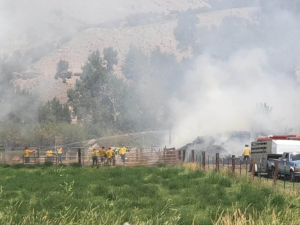 Firefighters are battling a blaze at Walker Ranch in Gypsum.