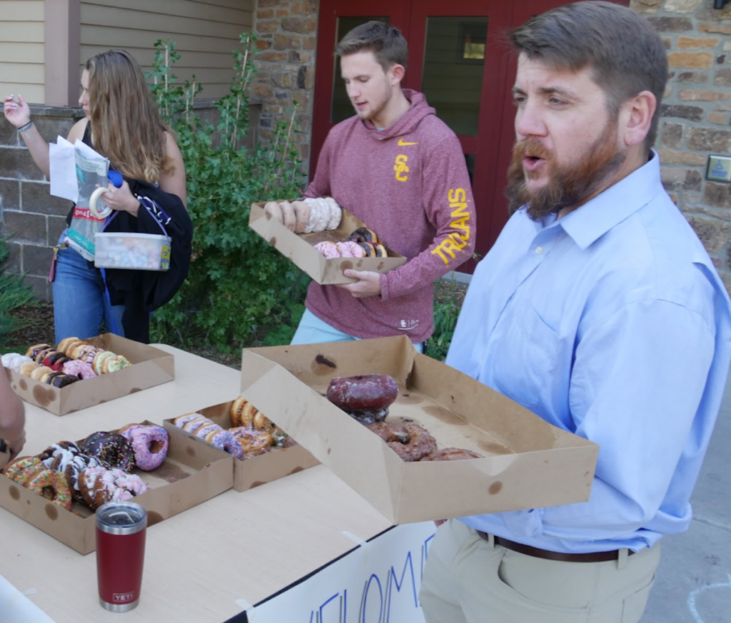 Vail Christian High School students were greeted with donuts and smiles Monday for their first day of school.