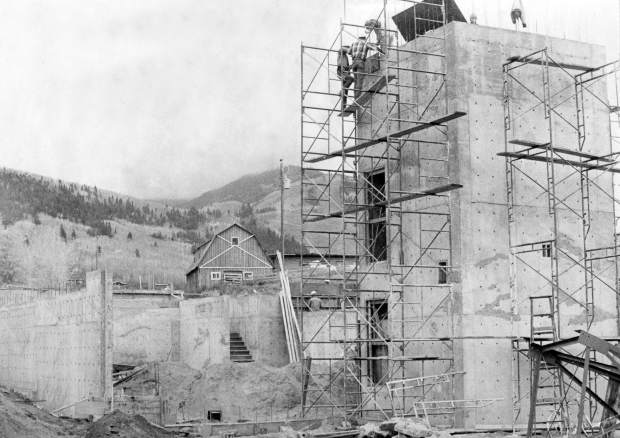 Aspen Chapel construction from October 1968. A caption with the photo that was published in The Aspen Times reads: