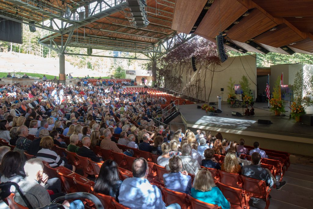 The community filled the pavilion at the Gerald R. Ford Amphitheatre to say goodbye to longtime local and Vail staple Pepi Gramshammer.