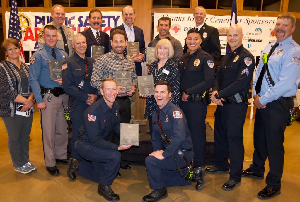 These are some of the honorees in this year's Rotary Public Safety Appreciation Awards. The program honors Eagle County's emergency workers and volunteers.