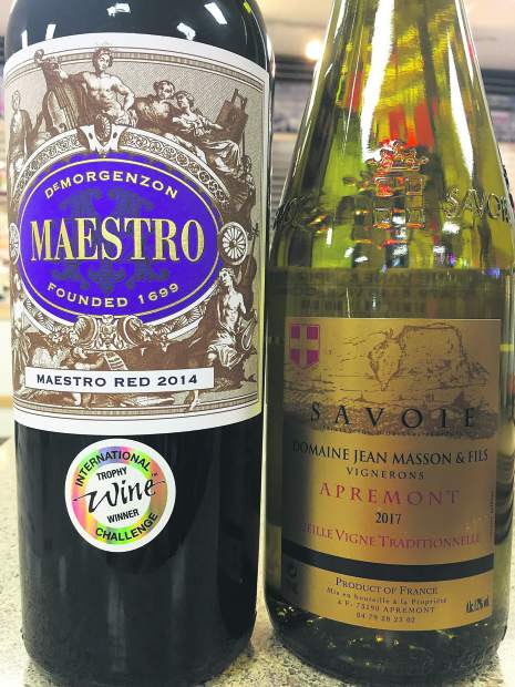 Both wine picks -- from South Africa and France -- show off aspects of the wine world that might not be as familiar to the typical palate.