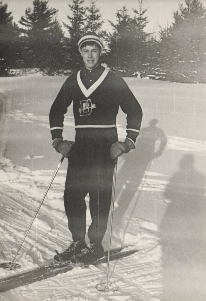 Sandy Treat was captain of his Deerfield Academy ski team.
