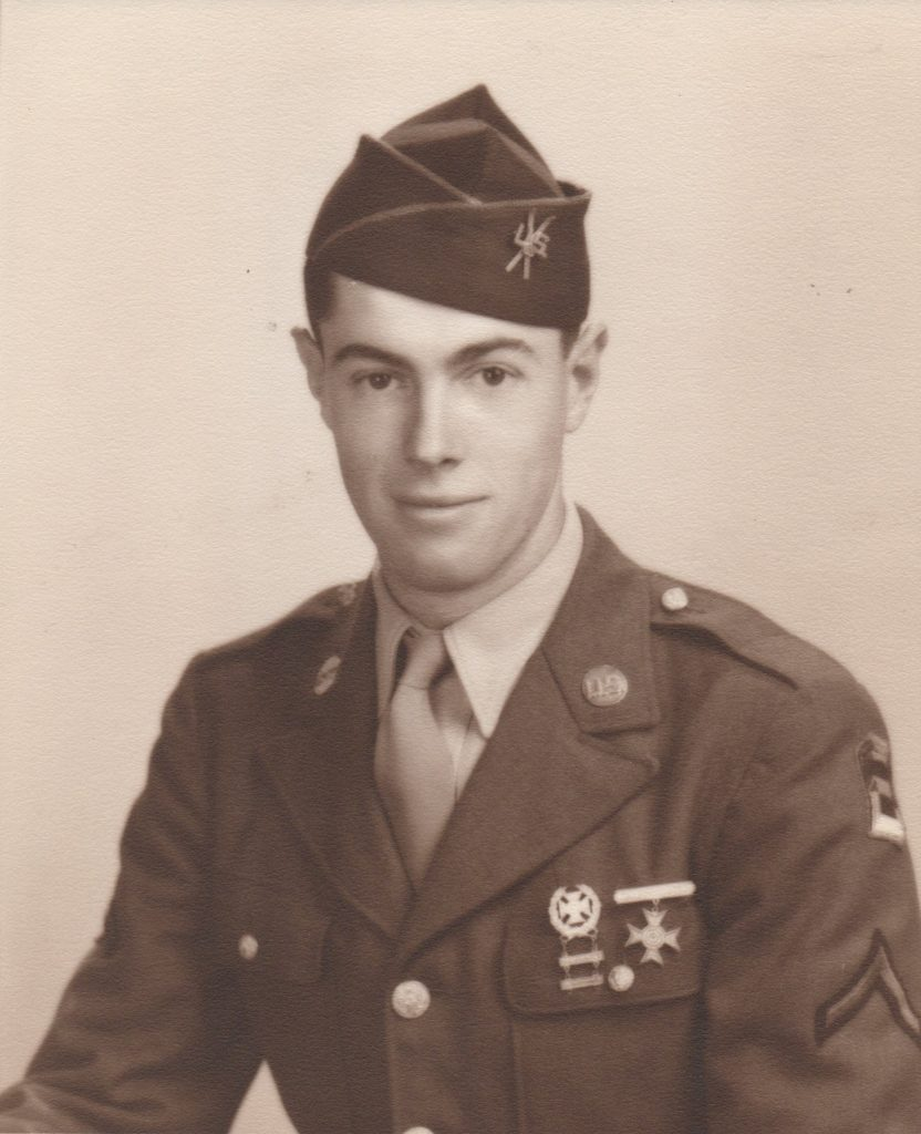 United States Army Private First Class Sandy Treat in 1942.