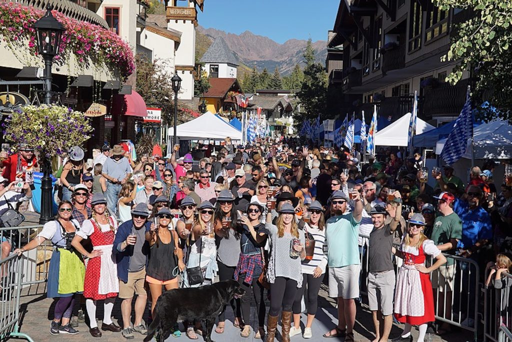 Vail Oktoberfest moved from Lionshead to Vail Village this weekend with traditional oompah music, Spaten beer and costume, stein holding and brat eating contests.